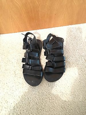 Office Womens Gladiator Sandals In Black Size 5