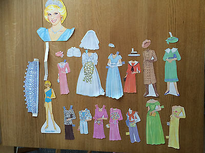 Princess Diana Paper Doll  & Fashions (USED) Vintage Golden Book 1985