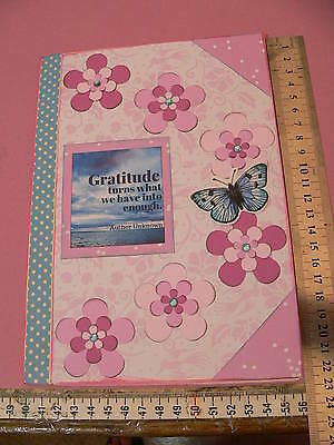 Notebook smash book junk journal handmade for writing, drawing, blank pages no 8