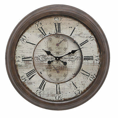 "Oversized 28"" Round Metal Wall Clock Darby Home Co Free Shipping High Quality"