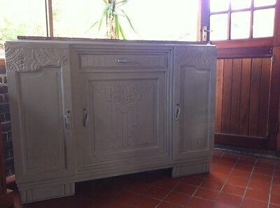 French sideboard buffet painted Annie Sloan Paris grey
