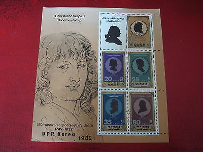 Korea: 1982 Goethe - Minisheet - Unmounted Used - Ex. Condition