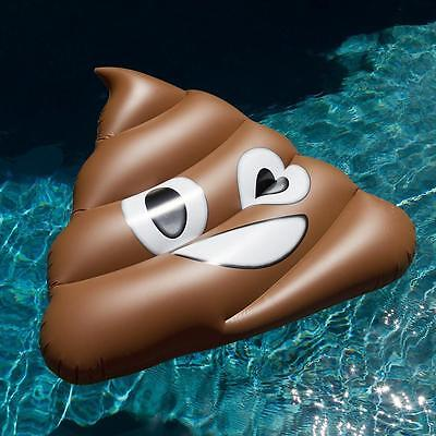 Giant Inflated Floating Row Swimming Pool Floats Feces Shape Swim Rings Ride Ons