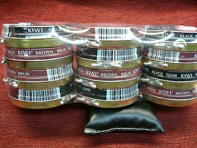 New KIWI Shoe Polish 1-1/8 oz SHINES PROTECTS  Pick Color Black, Brown, Neutral