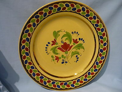 Wedgwood Antique 1915 Drabware Drab Queensware Collector Gilded Floral Plate