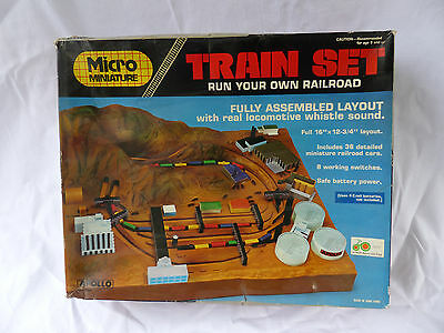 Apollo Micro Minature Train Set - Batterieautomat Bahn - Hong Kong boxed - MIB