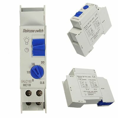 220V AC 16A DIN Rail Staircase Corridor Electronic Relay Switch Timer ALC18 HC18
