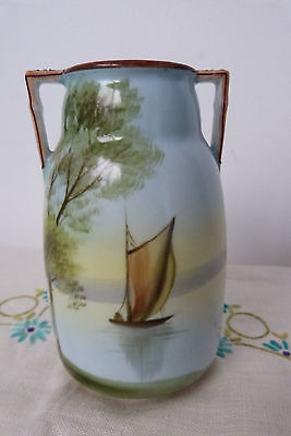 Vintage 1930's Art Deco Noritake Hand Painted Beautiful Small Vase VGC
