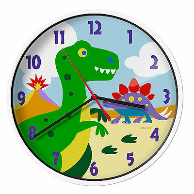 "Olive Kids Dinosaur Land 12"" Wall Clock Wildkin Free Shipping High Quality"