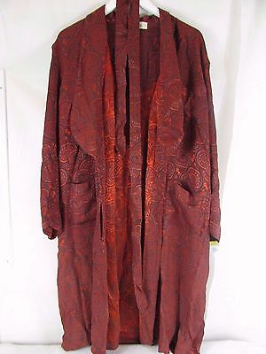 Liberty Vintage Red Dressing Gown Robe    ##ashb11Jt