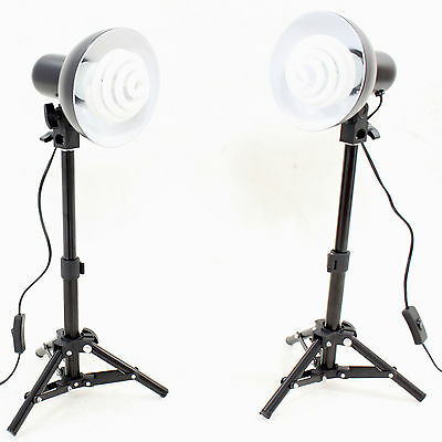 Kit Illuminatore 2x PS01 350W Lampada Luce con Cavalletto per Studio Foto Video