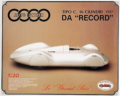 NEW REVIVAL KIT - Auto Union Typ C Record Car since 1937 - SCALE 1:20