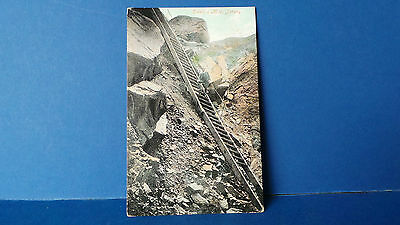 Jersey Channel Islands Postcard Ladder to Devil's Hole by Valentines Colour 1905