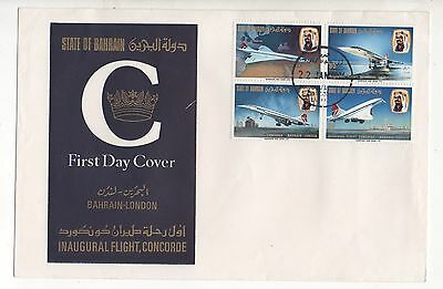 Bahrain Concorde Cover To London 22.1.1976