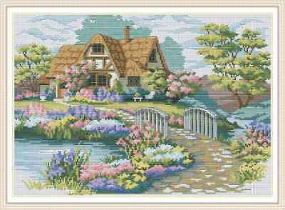 Counted Cross Stitch Kit - Cottage