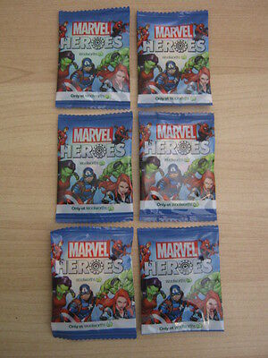 NEW Marvel Super Hero Woolworths discs 6 off