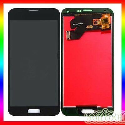 Display Lcd Vetro Touch Screen Ricambio Samsung Galaxy S5 G900F Nero Schermo