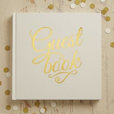 Ivory & Gold Foil Wedding Guest Book