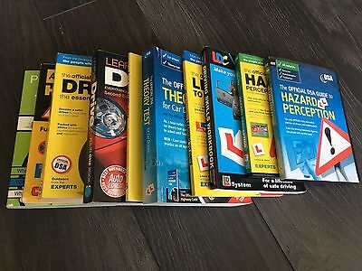 BUNDLE Driving Theory & Practical Books & Hazard Perception DVDs UK car