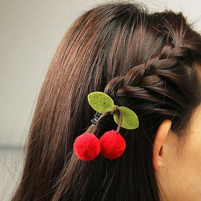 Fruit Barrette for Girls 2PCS Sweet Cherry Hair Clip Hair Accessories Best Gift