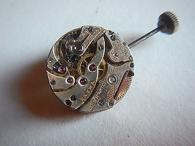 Antique GRUEN EXTRA Watch Movement 18 Jewels 18.00MM Good Balance 1920's NOS