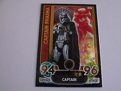 Star Wars Force Attax Extra Gold Trading Card #127 Captain Phasma