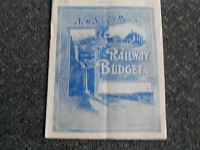NEW SOUTH WALES Railway Budget 1/7/1910.