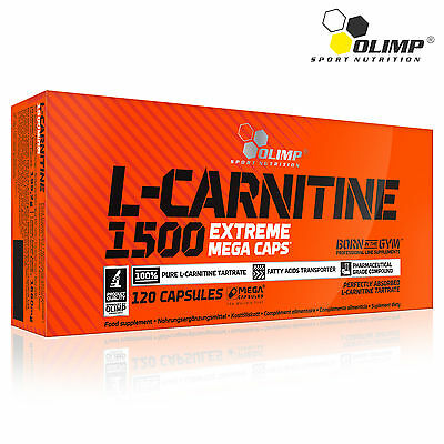 L-CARNITINE 1500 mg PER CAPSULE STRONG SAFE LEGAL NO STIMULANT FAT BURNER ENERGY