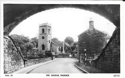 Postcard of the church at Thorner, West Yorkshire