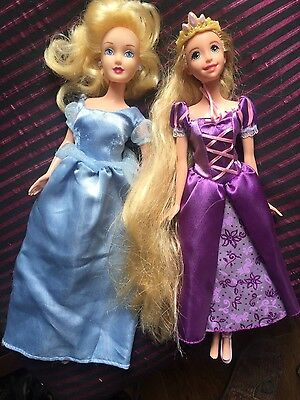 disney princess dolls bundle cinderella rapunzel tangled