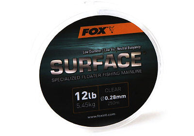 Fox Surface Carp Fishing Floating Monofilament Line - All Breaking Strains