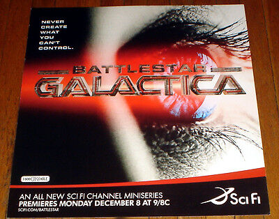 BSG Battlestar Galactica SCI FI SCIFI NETWORK 2003 MINI SERIES SUBWAY POSTER
