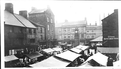 Postcard of the Market place, Otley. Yorkshire