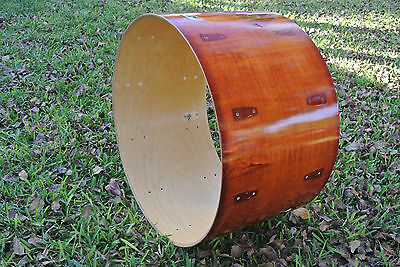 "70s/80s LUDWIG CLASSIC 24"" BASS DRUM SHELL in RED MAHOGANY for  DRUM SET! C827"
