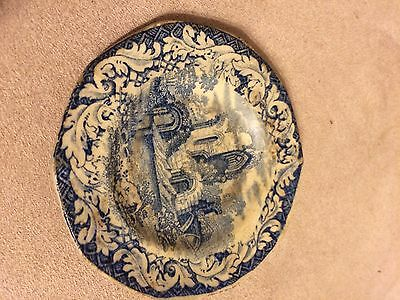 Blue And White Antique Butter Pat