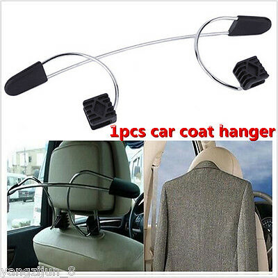 1X Silver High quality Car Seat Headrest Jacket Coat Suit Clothes Hanger Holder