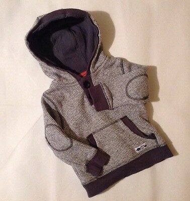 Baby Boys 12-18 Months F&F Grey Long Sleeved Hoodie Jumper With Pockets