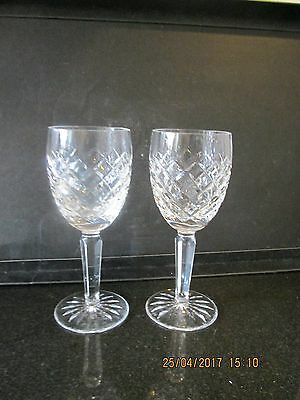WATERFORD CRYSTAL COMERAGH? CLARET WINE GLASSES x 2