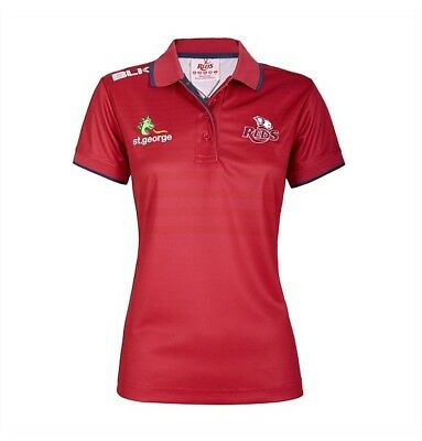 Queensland Reds 2017 Ladies Media Polo Shirt BNWT Rugby Union Clothing