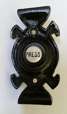 Vintage enamelled PRESS door bell push button