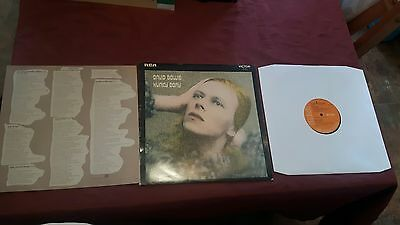 David Bowie Hunky Dory Album 3T first edition 1st Pressing