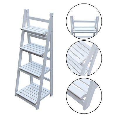 4Tier Ladder Shelf Home Storage/Display Unit Bookcase Stand Plant Flower Shelves