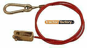 Ifor Williams Trailer Caravan Breakaway Safety Cable With Clevis Pin 1000Mm