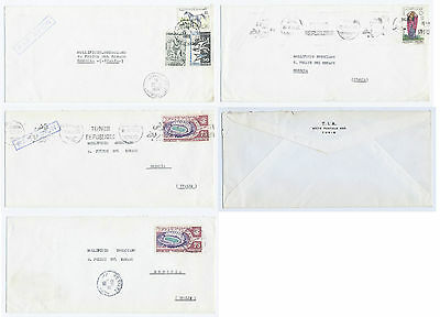 4 Old 1968/69's Envelopes Correspondence to Rèpublique Tunisienne from Italy
