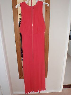 Ladies Coral Dress by Coast Size 10 Perfect Prom Dress
