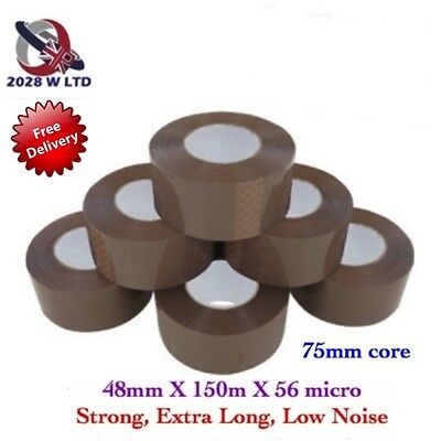 Brown Parcel Packing Tape 48mm*150m*56mic, Extra Long, Strong, Low Noise