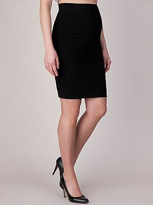 Seraphine Maternity Skirt Shaped Body Con Black , Size L