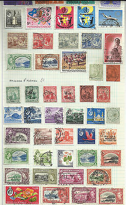 Trinidad & Tobago Stamps on 2 pages - Mainly used