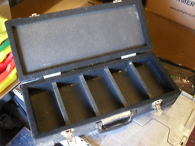 Mini Disc Case Box Flightcase Handle 5 Compartments Compact Storage
