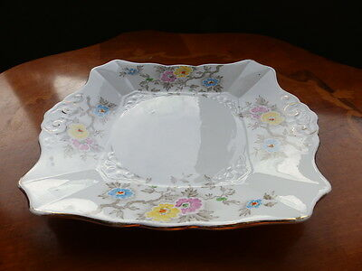 Vintage Art Deco Plant Tuscan China sandwich plate